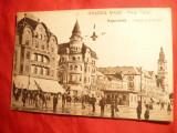 Ilustrata clasica Oradea Mare - Piata Unirii,Ed. Kadar , Budapesta, Circulata, Printata