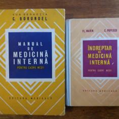 Lot 2 carti Medicina Interna, pentru cadre medii  / C58P