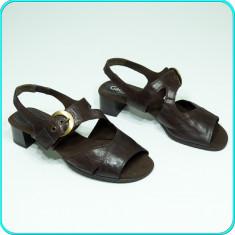 DE FIRMA → Sandale dama, frumoase, comode, din piele, GABOR → femei | nr. 40, Culoare: Maro, Piele naturala
