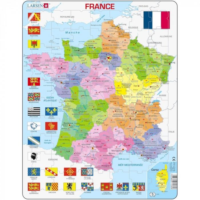 Puzzle Harta Politica a Frantei(FR), 70 piese Larsen LRA5-FR B39016844