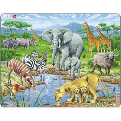 Puzzle Savana Africana, 65 Piese Larsen LRFH9 B39016857 foto