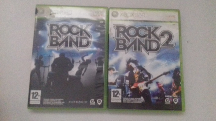 LOT 2 Jocuri  - Rock Band 1 + 2 - Rockband -  XBOX 360 [Second hand] foto mare