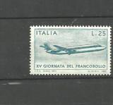 ITALIA 1973 - AVION DE TRANSPORT PASAGERI, timbru nestampilat, AD28