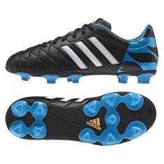 Ghete Fotbal Adidas 11QUESTRA FG J M29860, Marime: 38 2/3, Negru, Copii