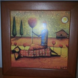 Tablou reproducere imprimata pe carton -Africa -Janie-lot 3 bucati