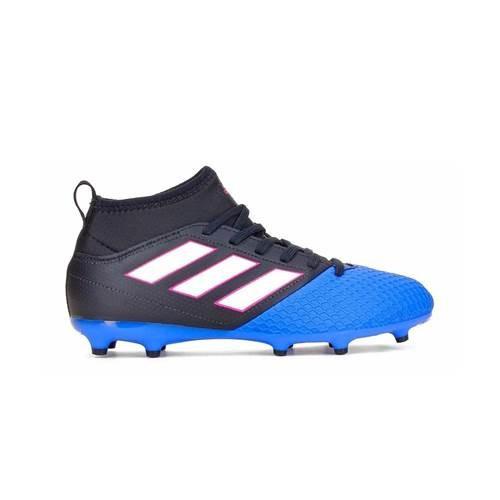 Ghete Fotbal Adidas Ace 173 FG J Cblackftwwhtblue BA9234