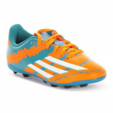 Ghete Fotbal Adidas Messi 104 Fxg J B32718, 37 1/3, Orange, Copii