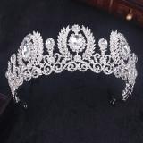 Diadema,tiara argintie cu cristale+cadou cercei