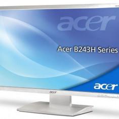 Monitor 24 inch LED-backlit LCD, ACER B243HL, Full HD, White, Panou Grad B - Monitor LCD