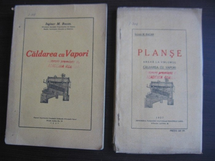 CALDAREA CU VAPORI+ ANEXE = INGINER M.BACAN // 1927,SEMNATA OLOGRAF DE AUTOR foto mare