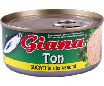 Giana Ton bucati in ulei 170g