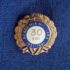 Insigna Academia militara - Promotia 1951 - 1981 - 30 ani