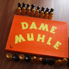 Piese de sah - lemn + joc Dame Muhle - Piese sah