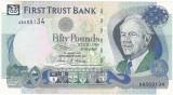 IRLANDA DE NORD 50 lire 1998 XF serie mica AA 000134 First Trust Bank P-138a