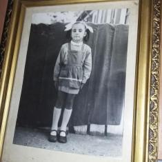 Tablou cu rama veche,fotografie Eleva/Scolarita epoca Ceausista,Transp.GRATUIT