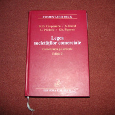 Stanciu Carpenaru - Legea societatilor comerciale. Comentariu pe articole. Ed.4 - Carte Jurisprudenta