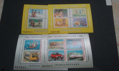 Romania 1988,1989-LP-1199,1221-Colaborarea cultural ec.4 blocuri,nestampilate. foto
