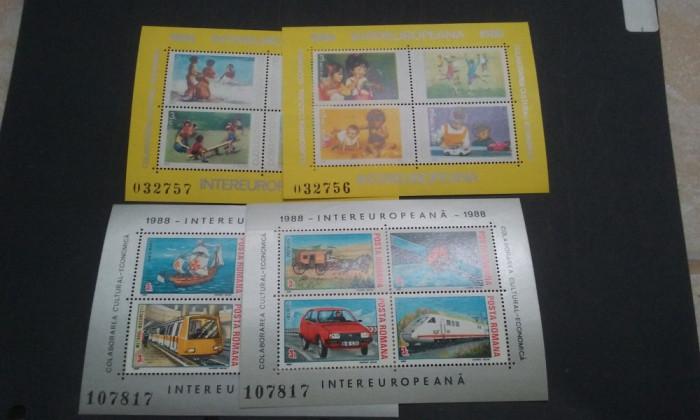 Romania 1988,1989-LP-1199,1221-Colaborarea cultural ec.4 blocuri,nestampilate.