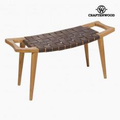 Banchetă Lemn mindi Piele (100 x 35 x 45 cm) - Let's Deco Colectare by Craftenwood