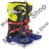 MBS Cizme motocross Alpinestars Tech5, albastru/negru/galben/rosu, 9=43, Cod Produs: 201501571539AU