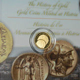 ROMANIA-2014: Moneda 10 lei AU 999/1000 MONEDE DIN AUR BATUTE LA HISTRIA