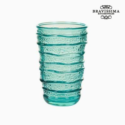 Pahar din Sticla Reciclata Turquoise (8 x 8 x 13 cm) by Bravissima Kitchen foto