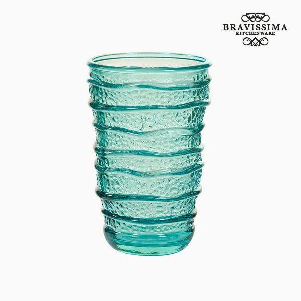 Pahar din Sticlă Reciclată Turquoise (8 x 8 x 13 cm) by Bravissima Kitchen foto mare