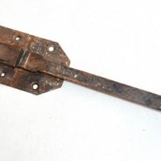 Incuietoare veche, zavor, ivar realizat din fie masiv 38cm lungime