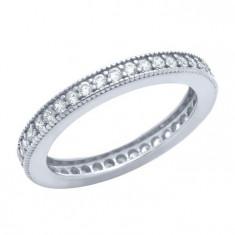 Inel argint 925 model verigheta cu pietre albe