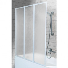 Paravan cada Aquaform Standard 3 3 elemente mobile 121x139cm poliester alb