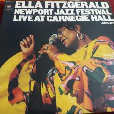 DISC VINIL   ELLA FITZGERALD - NEWPORT JAZZ FESTIVAL  2 VINILURI