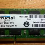 8GB Memorie MAC Laptop Crucial RMT3160ME68FAF-1600 DDR3 1600MHz 1.5 - Memorie RAM laptop