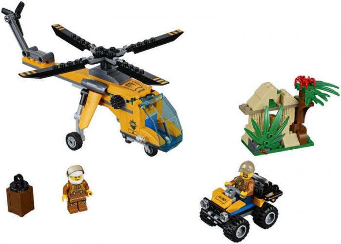 LEGO® City Elicopter de marfa in jungla 60158 foto mare