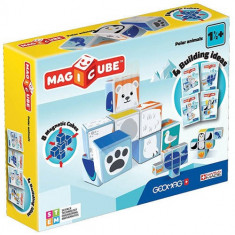 Set constructie magnetic Geomag Magicube Animale Polare