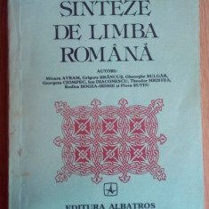 Sinteze de limba romana Editia a treia - Coordonator: Theodor Hristea