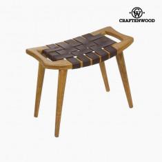 Banchetă Lemn mindi Piele (60 x 35 x 45 cm) - Let's Deco Colectare by Craftenwood