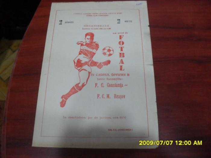 program          FC  Constanta   -  FCM  Brasov