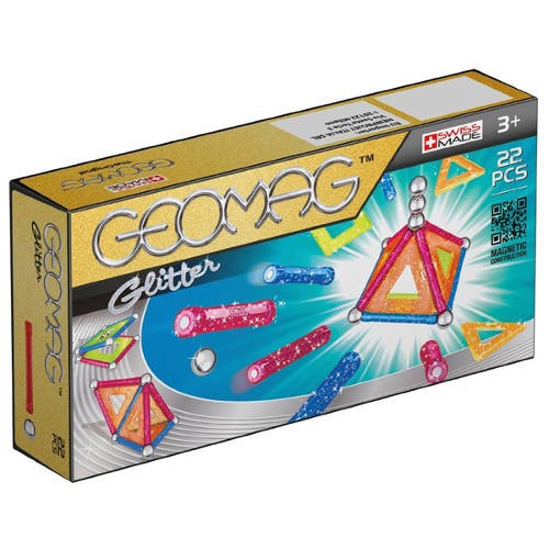 Set constructie magnetic Geomag Glitter 22 foto mare