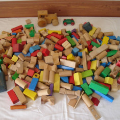 Joc constructii lemn(peste 300 buc.) - Set de constructie
