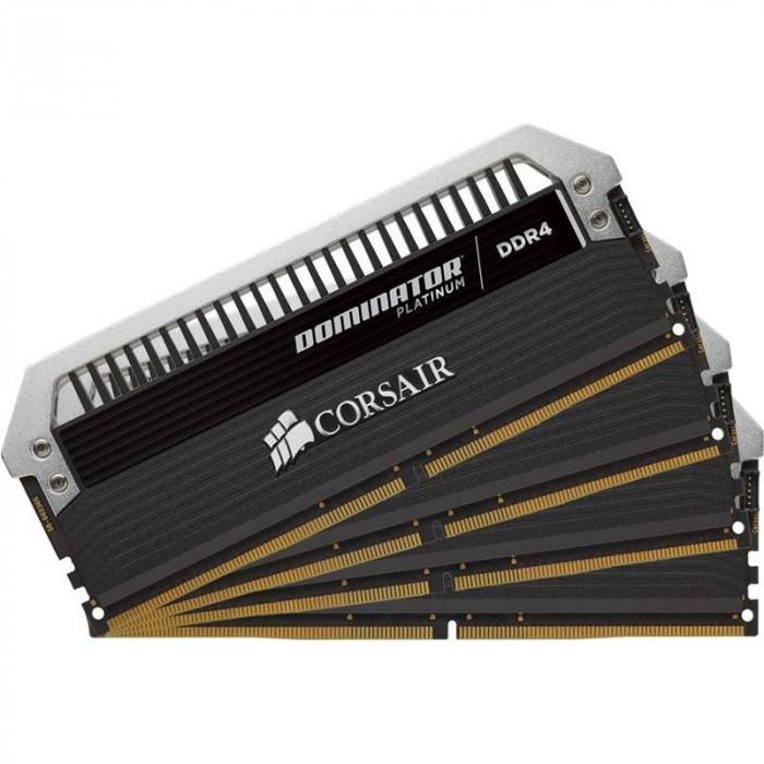 Memorie Corsair Dominator Platinum 32GB DDR4 3733MHz CL17 Quad Channel Kit foto mare