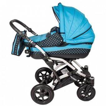 Carucior 3 in 1 copii 0 Luni+ Dalia Lux albastru cu buline foto mare