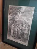 GRAVURA William van der Gouwen ,CCA 1680-1700, Religie, Cerneala, Suprarealism