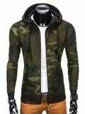 Hanorac pentru barbati, camuflaj verde - B741, L, M, S, XL, XXL