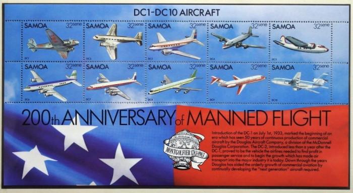 SAMOA 1983 AVIATIE AVIOANE foto mare