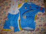 echipament ciclism complet astana set pantaloni tricou