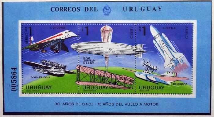URUGUAY 1978 AVIATIE COTA MICHEL 25 EURO foto mare