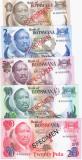 BOTSWANA set 1 2 5 10 20 Pula UNC SPECIMEN + PLIC CU CERTIFICAT DE AUTENTICITATE