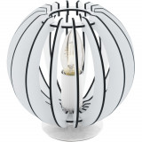 Veioza Eglo Trend Cossano 1x40W h18.5cm nichel-lemn alb