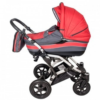 Carucior 3 in 1 copii 0 Luni + Dalia Lux Red-Grey foto