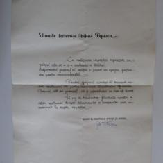Scrisoare multumire pentru realizarea expoz.Militia 20 ani semnata min.adj M.A.I